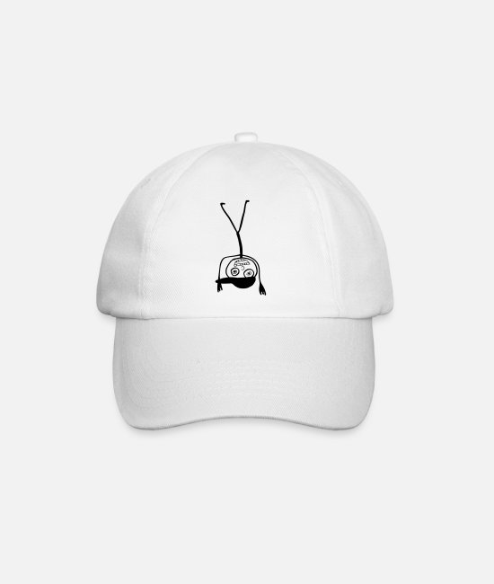 Stick Man Caps & Hats - Kid In A Cap Handstand - Baseball Cap white/white