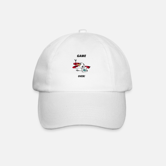 Birthday Caps & Hats - Game over - Snowman - Winter - Christmas time - Baseball Cap white/white
