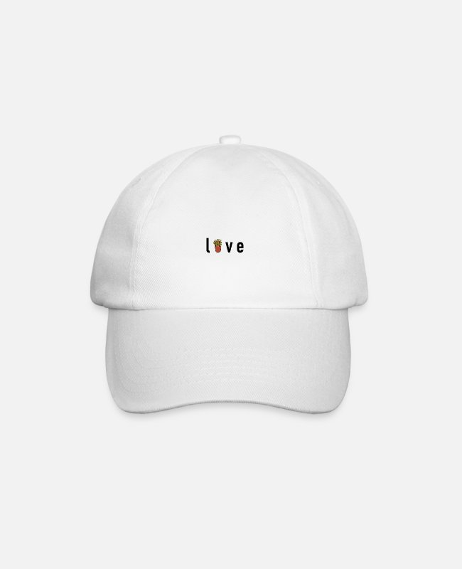 Christmas Caps & Hats - Foodie - love for fries - Baseball Cap white/white