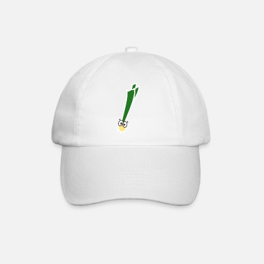 Funny leek vegetables with eyes funny motif - Baseball Cap