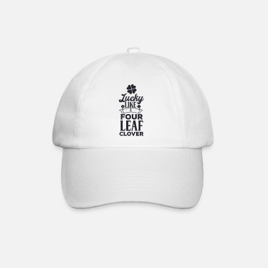 Ierland Lucky Like a Four leaf klaver zwart 01 - Baseball cap