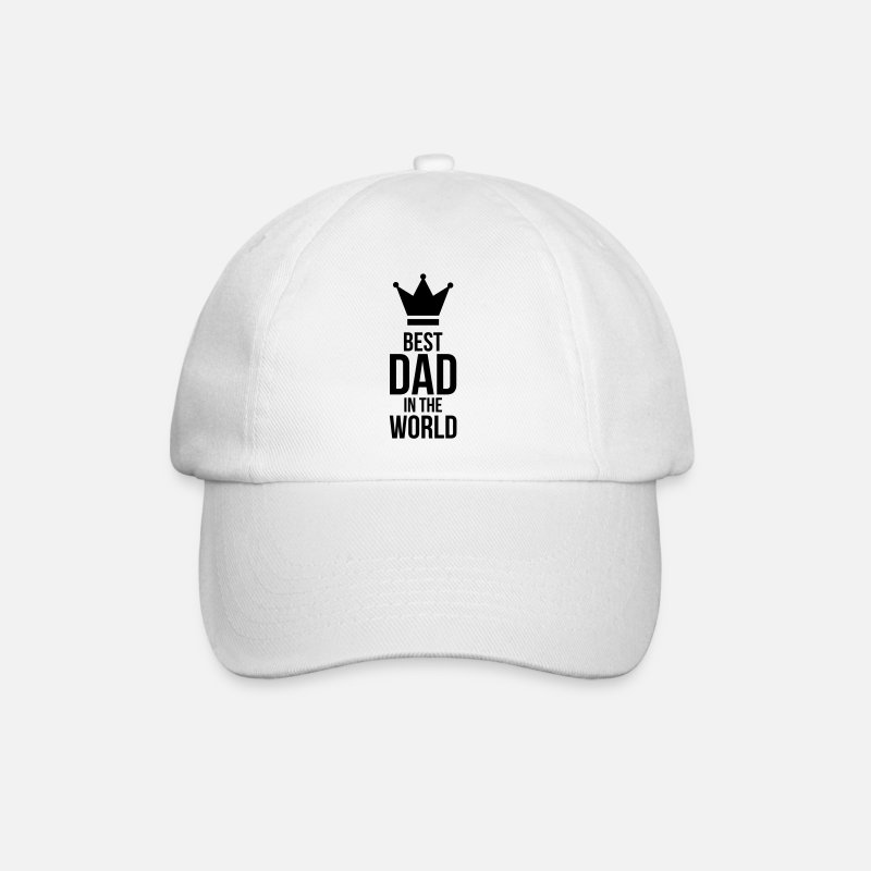Best Caps & Hats - Best Dad in the World ! - Baseball Cap white/white