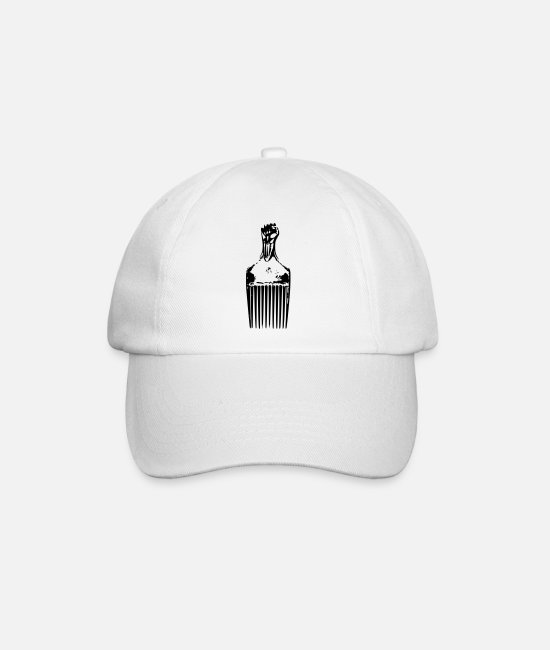 Urban Caps & Hats - Afro Pick - Baseball Cap white/white