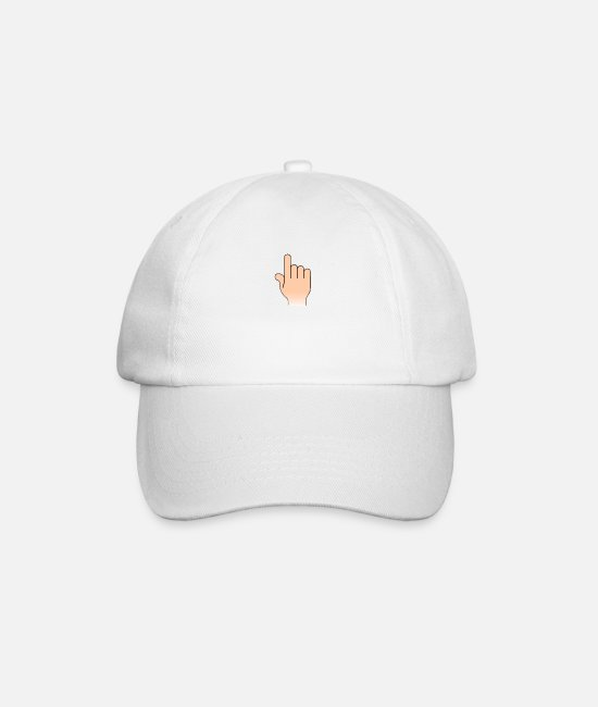 Watch Out Caps & Hats - finger - Baseball Cap white/white