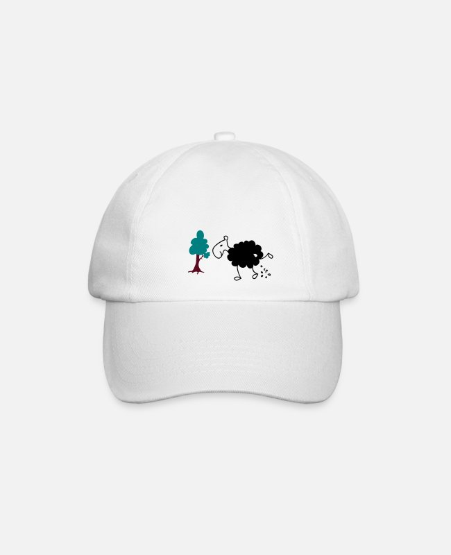 Nature Caps & Hats - Schwarzes Schaf Pisser / Sheep in wolf's clothing - Baseball Cap white/white