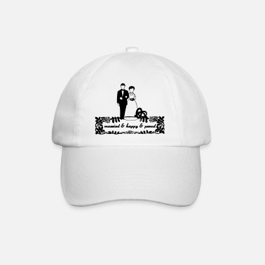 Ehe married & happy & proud Geschenk - Baseball Cap