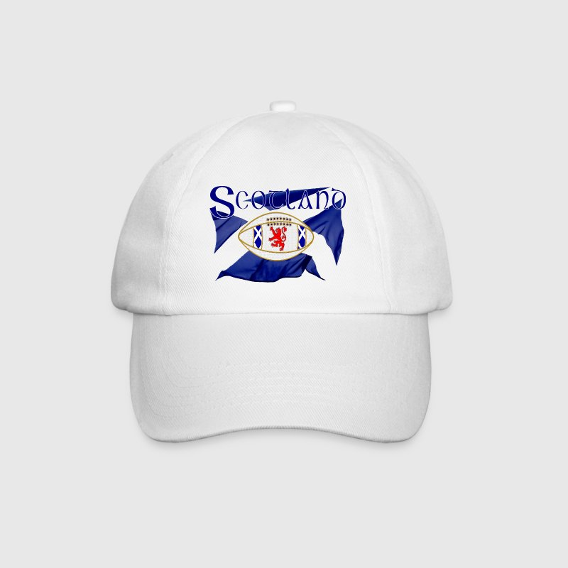 scotland rugby flag_oval ball - Baseball Cap