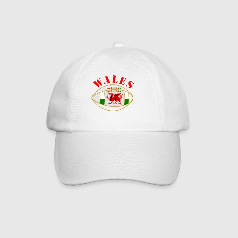 Wales_styled_rugby_ball - Baseball Cap