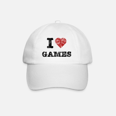 Counter Strike i love games vintage dark - Gorra béisbol