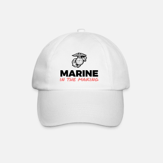 Marine Caps & Hats - Marine in the Making - Baseball Cap white/white