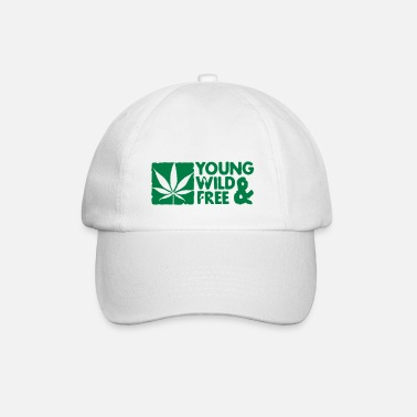 Wild young wild and free weed leaf boxed - Baseball Cap