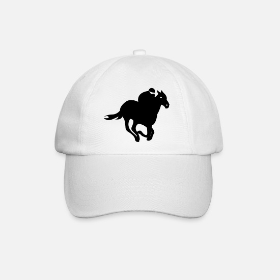 Racing Caps & Hats - Jockey - Horse Racing - Baseball Cap white/white