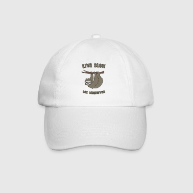 Funny & Cute Sloth Live Slow Die Whenever Slogan - Baseball Cap