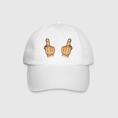 double fuck / two middlefingers / fuck you - Baseballcap