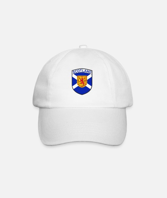 Shield Caps & Hats - scotland - Baseball Cap white/white