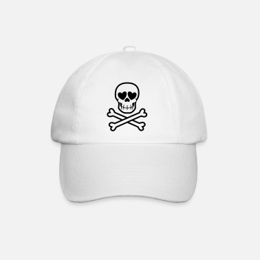 Eros & Thanatos Skull and Crossbones by Cheerful - Baseball Cap