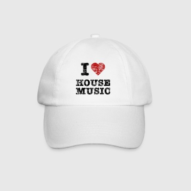 i_love_housemusic_vintage - Baseballkappe