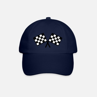 Checkered Flag flags - car race - Baseball Cap