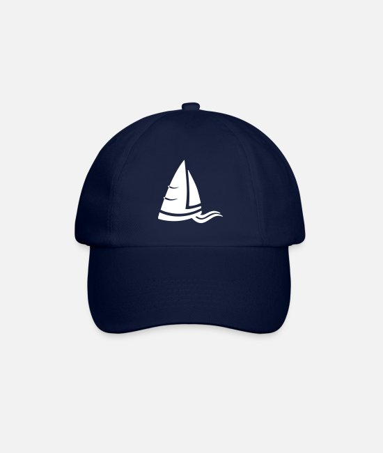 Water Caps & Hats - Sea air sailboat logo white - Baseball Cap blue/blue