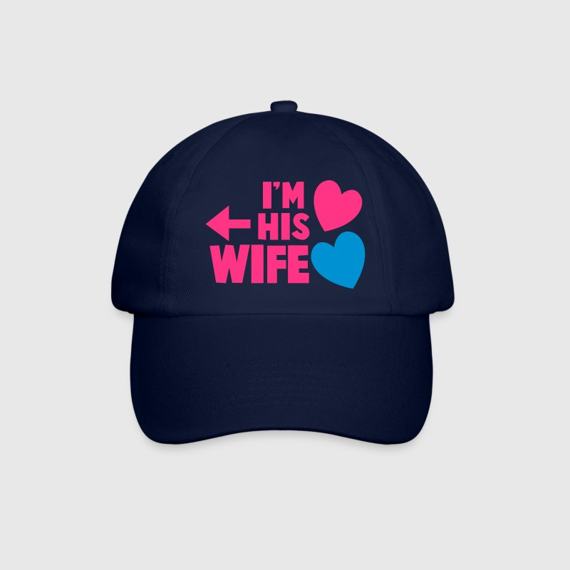 I'm his wife with arrow left and cute love hearts - Baseball Cap