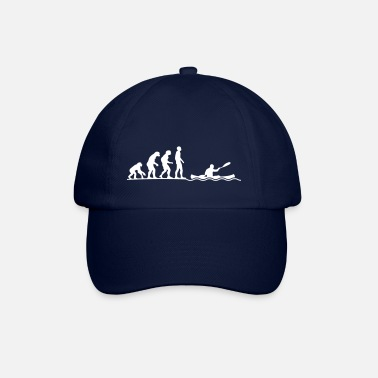 evolution of canoeing Kanu Kanuten paddeln Verein - Baseball Cap