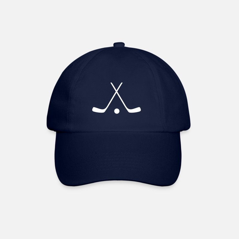 Hockey Stick Caps & Hats - hockey sticks / hockey symbol - Baseball Cap blue/blue