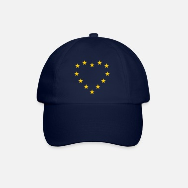 Union EU flag as heart - Europe flag - Baseball Cap
