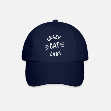 Crazy Cat Lady Crazy Cat Lady meow - Baseball Cap