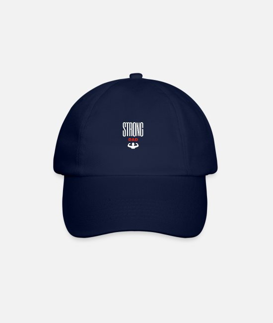 Super Dad Caps & Hats - T-shirt for Papa Fort / Strong Dad - Baseball Cap blue/blue