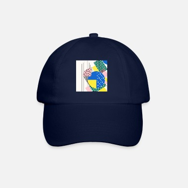 Retro Retro Vintage vormen abstract - Baseball cap