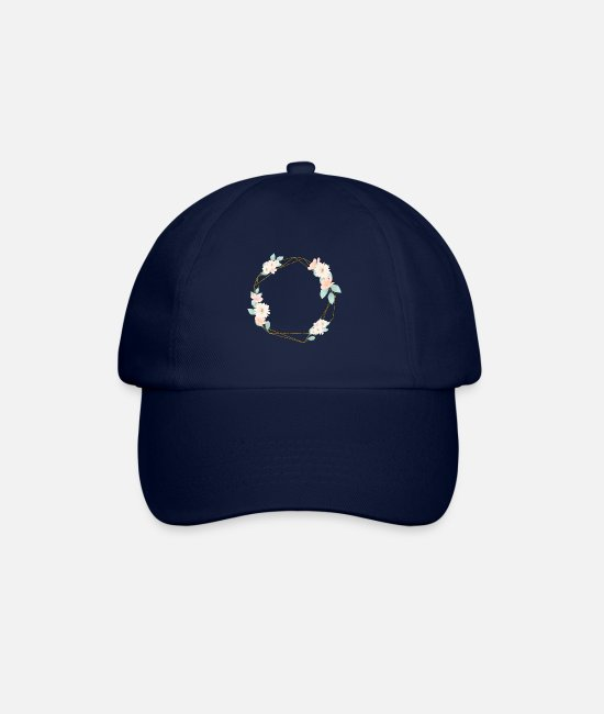 Femilie Caps & Hats - Flowers Geometric Customizable - Baseball Cap blue/blue