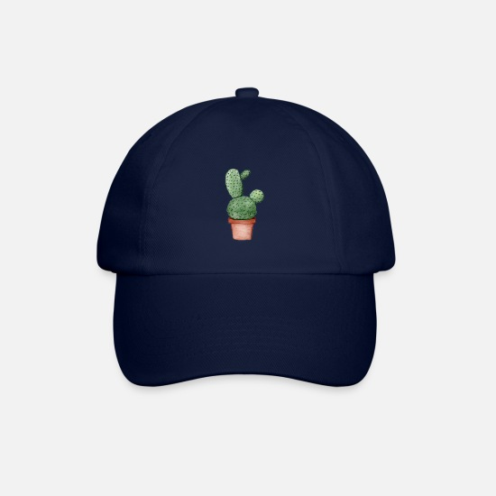 Watercolour Caps & Hats - Watercolour Cactus - Baseball Cap blue/blue