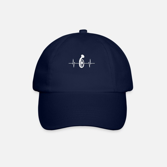Birthday Caps & Hats - Tenor horn - heart rate - Baseball Cap blue/blue