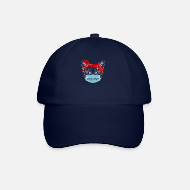 Cat Keep Your Distance Keep distance ! Cat cat with face mask - Baseball Cap