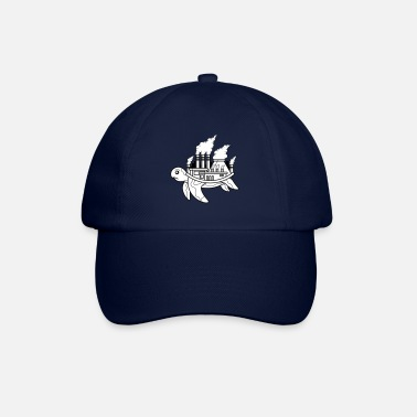 Smog Turtle factory, smoke, smog air, animal welfare - Baseball Cap