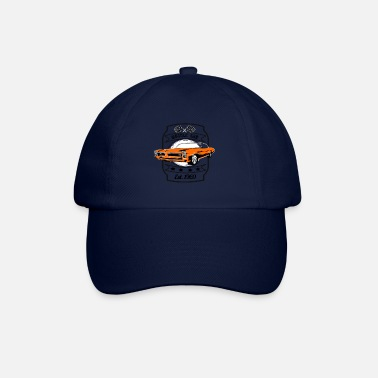 Car Muscle car in orange - Baseball Cap
