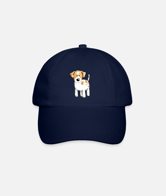 Friendship Caps & Hats - Funny Jack Russell dog cartoon - Baseball Cap blue/blue