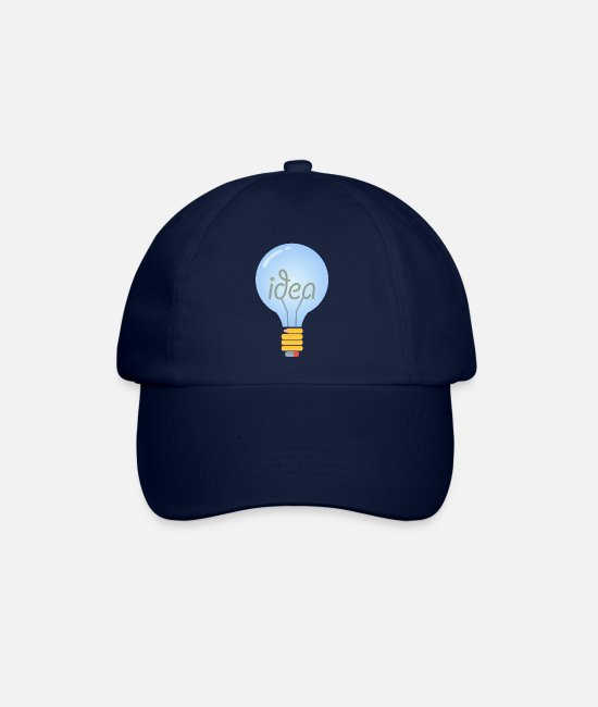 Light Bulb Caps & Hats - Bulb (Idea) - Baseball Cap blue/blue