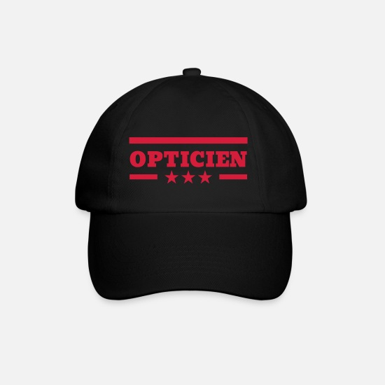 Ophthalmologist Caps & Hats - Optician Optiker Opticien Glasses Eyes Lunettes - Baseball Cap black/black