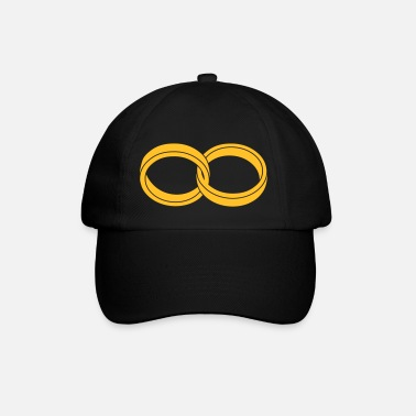 Marriage Infinity Shape wedding rings - like a Symbol of infinity - Baseball Cap
