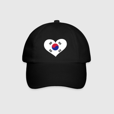 Südkorea Herz; Heart South Korea - Baseballcap