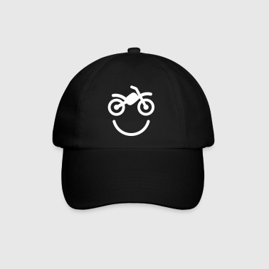 Happy off the road motocross smiley - motorcycle - Czapka z daszkiem