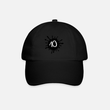 Paintball Farbklecks Birthday 10__zahl_klecks__f2 - Baseball Cap