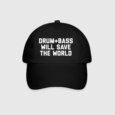 Drum + Bass Save World EDM Quote - Gorra béisbol