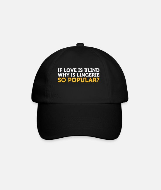 Couples Caps & Hats - Love Is Blind? Why Is Lingerie So Popular? - Baseball Cap black/black