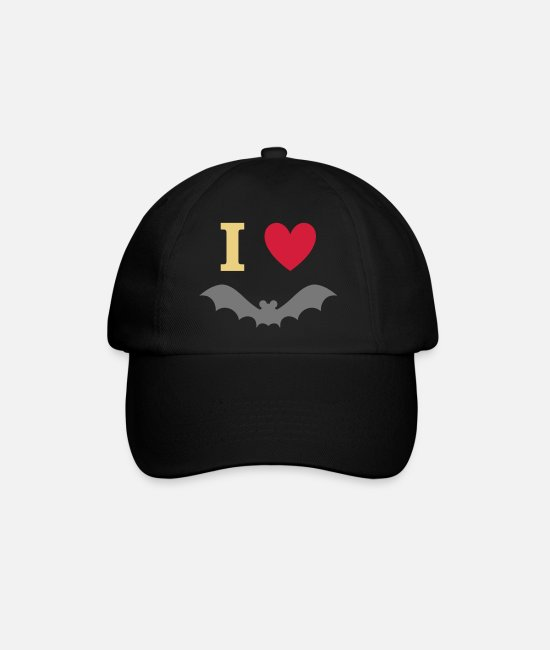 Heart Caps & Hats - I love bats - Baseball Cap black/black
