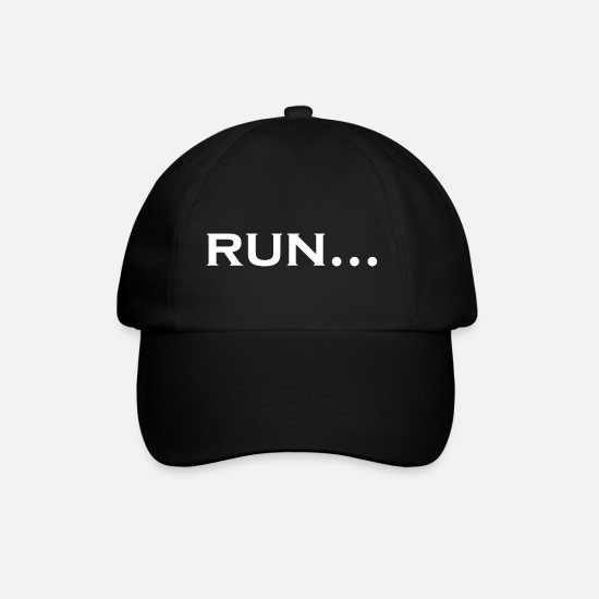 Runner Caps & Hats - run ... for runners and aspiring runners - Baseball Cap black/black