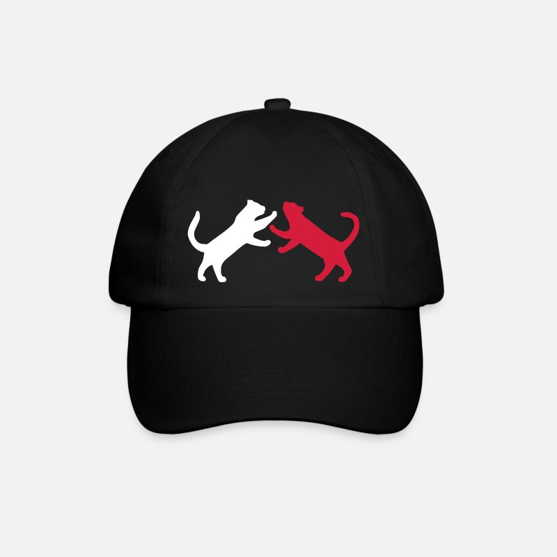 Cat Caps & Hats - Cat fighting - Baseball Cap black/black