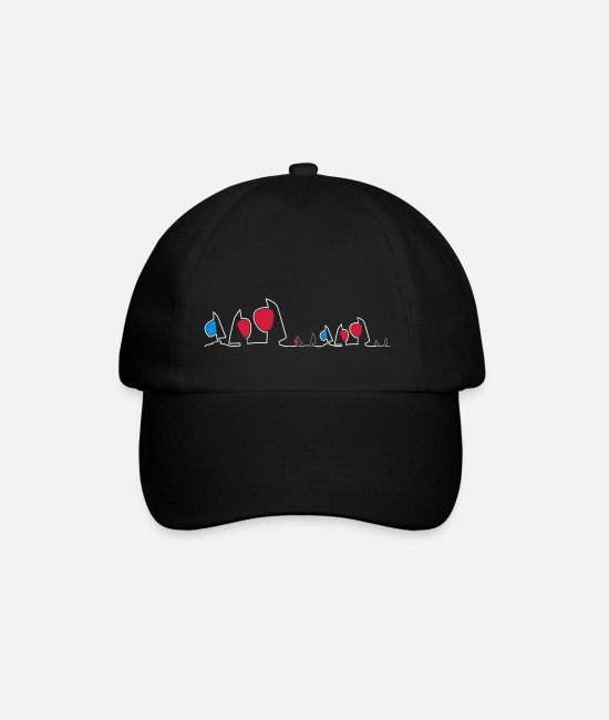 Sail Boat Caps & Hats - Regatta skyline - Baseball Cap black/black