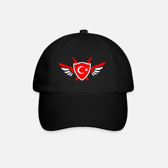 Gift Idea Caps & Hats - Turkey wings / gift Istanbul Ankara Izmir - Baseball Cap black/black